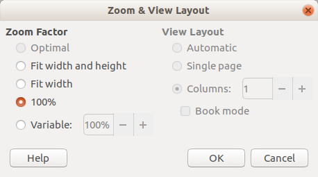 Zoom & View Layout - Options