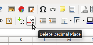 Decimal Places in LibreOffice Calc