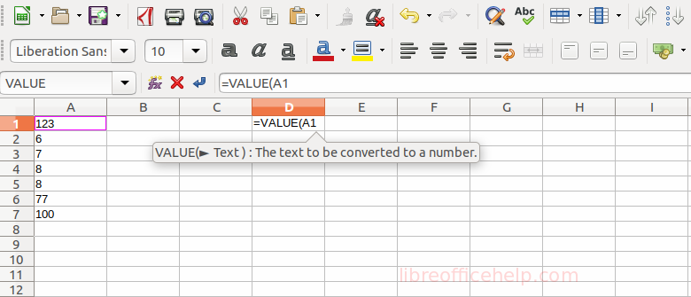 Convert Text to Number in LibreOffice Calc - libreofficehelp com
