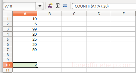 Count Cells with Strings, Numbers Using COUNTIF Function - Calc -  libreofficehelp.com