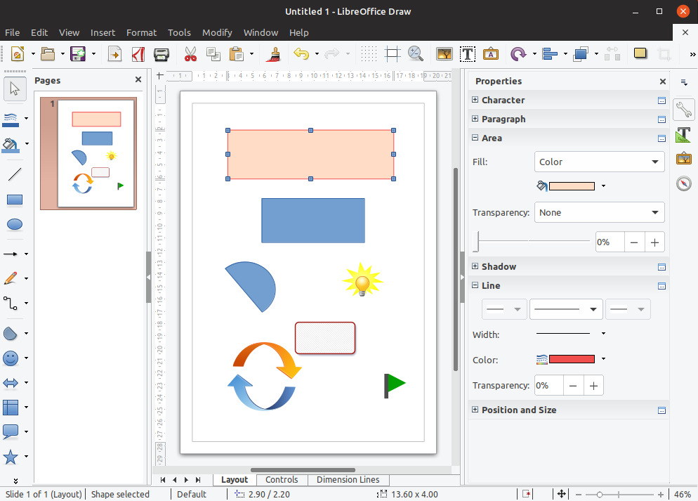 LibreOffice Draw - In Works