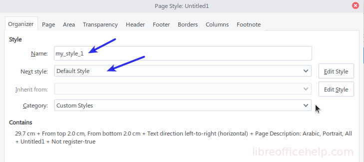 Page Style - Organizer