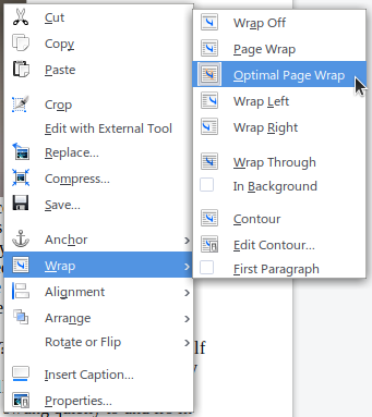 Wrap Context Menu