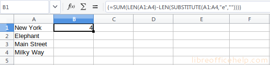 Count occurrence in a range