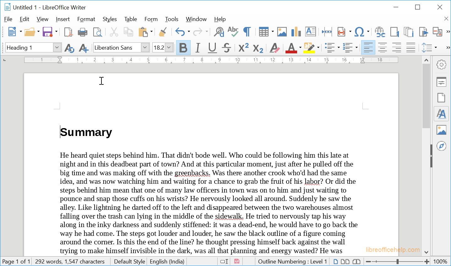 LibreOffice Writer-Basic Styles