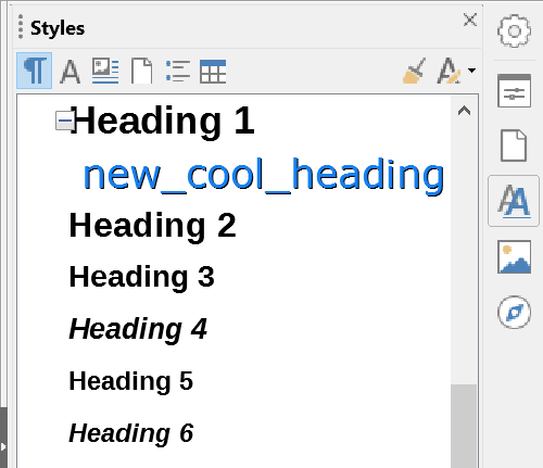 New Style in the Style Pane