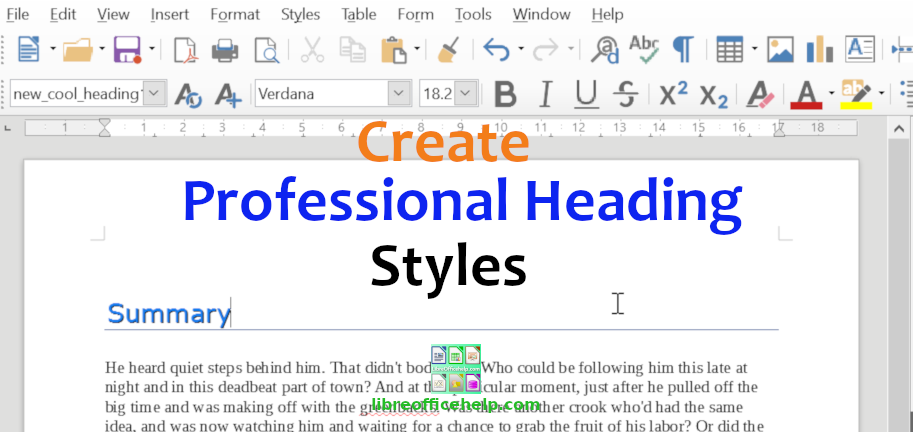 Create Professional Custom Heading Style in Writer