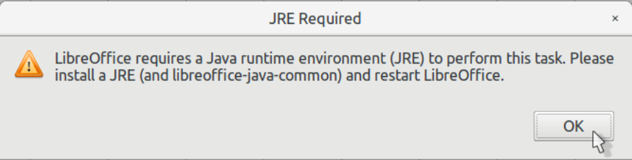 JRE Required Error