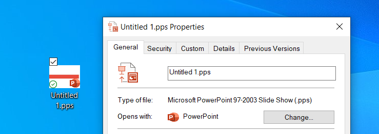 PowerPoint Show File