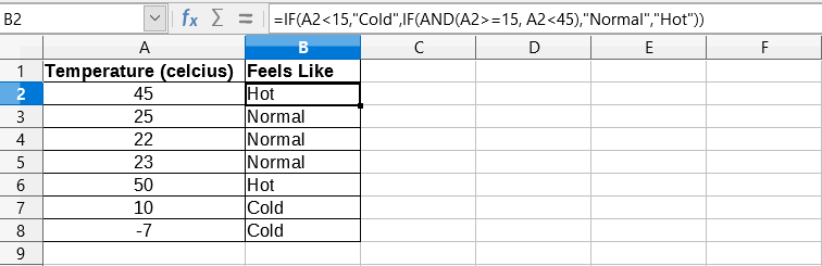 Nested IF Example