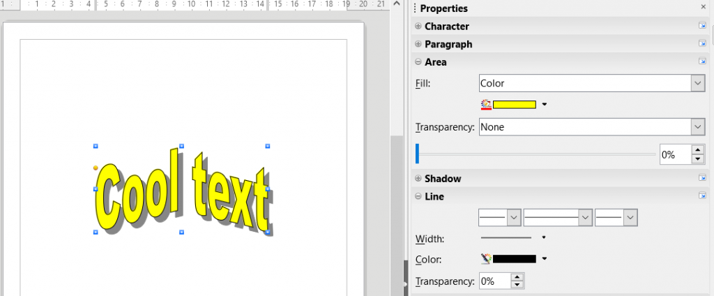 Create stylish text in Draw