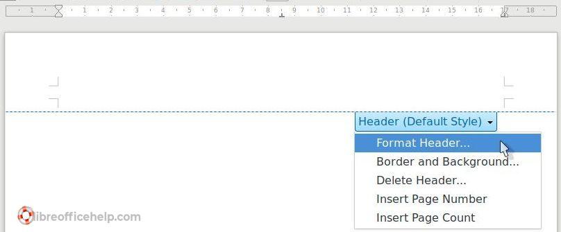 Format Header - Writer