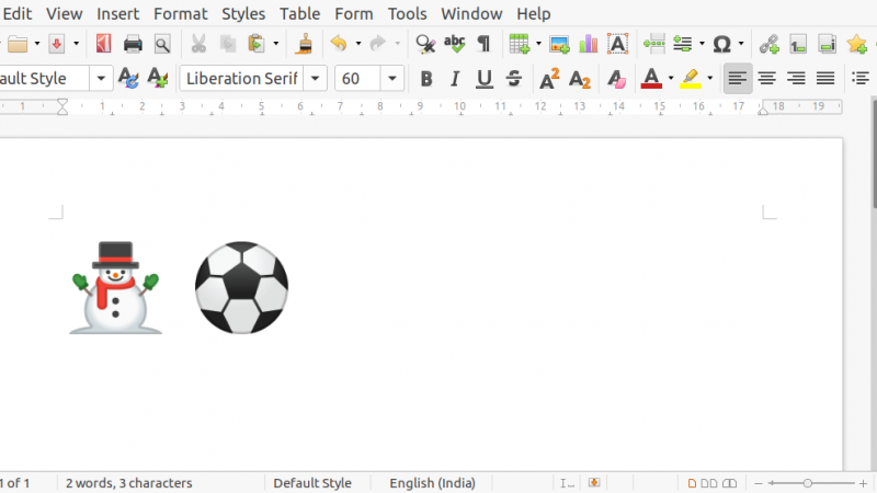 How to Type Unicode Characters in LibreOffice