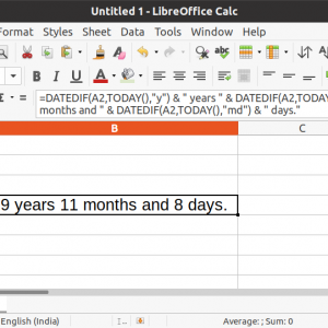 How to Calculate Date Difference in LibreOffice Calc
