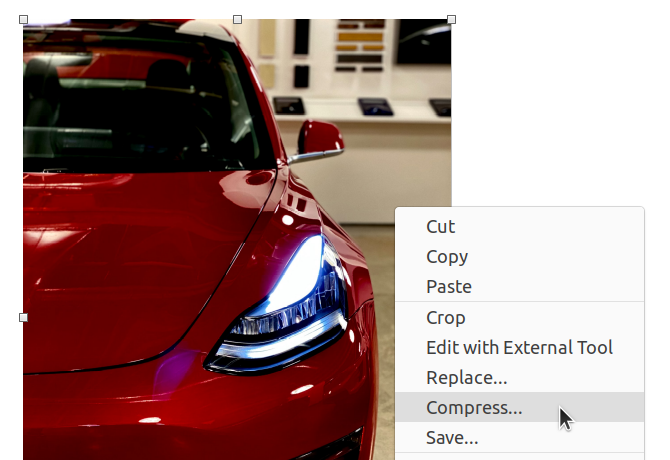 Compress Image Context Menu